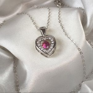 Jewelry - 💕Genuine Rubellite Heart Pendant💕